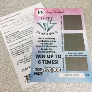 ''Will you be my...'' Novelty Lottery Scratch Card