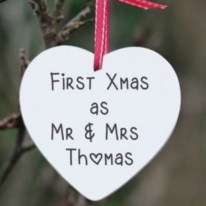 First Christmas as... Personalised Tree Decal