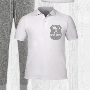 Boys White Ring Security Polo Shirt