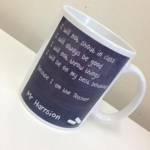 Chalkboard Teacher Mug, personalised with your Teachers name.
