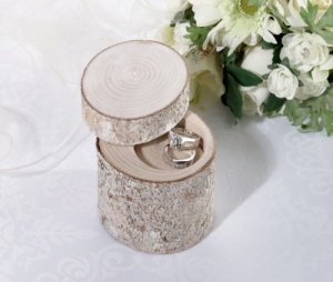 Personalised White Washed Pine Ring Holder