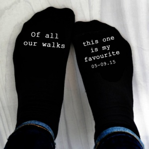 Personalised 'Of all the walks' Printed Socks