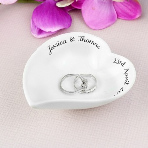 Personalised Free Text Ceramic Ring Dish