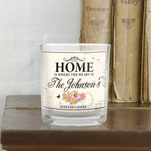 Personalised Shabby Chic Scented Jar Candle