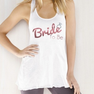 Glitter Bride to Be Racer Slouch