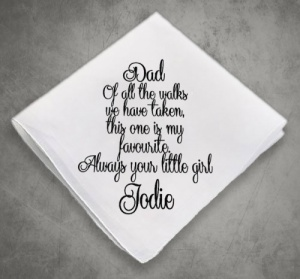 Today a Bride Personalised Hankie