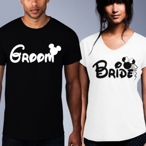 Mickey Bride / Groom T-Shirt Set