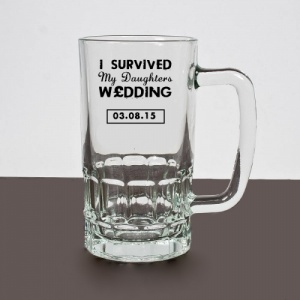 I survived my daughters wedding Personalised, Printed Pint Tankard
