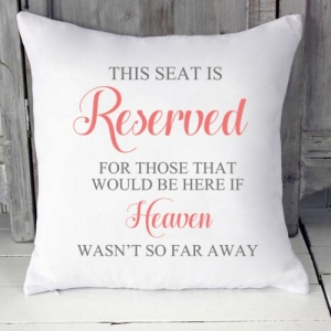 Reserved Seat Colour Scheme Cushion