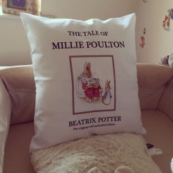 Beatrix Potter Story Book Personalised Cushion