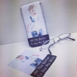'All the better to see us/me with'Unique Soft Glasses Case