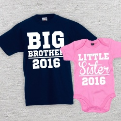 Big Brother Little Sister Matching T-Shirt Set