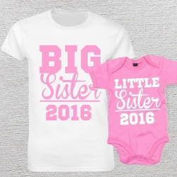 Big Sister Little Sister Matching T-Shirt and Vest Set