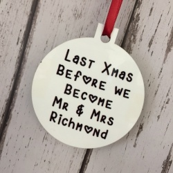 Last Christmas before we become... Personalised Tree Decal