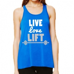 'Live, Love, Lifty' Slouch Gym Vest
