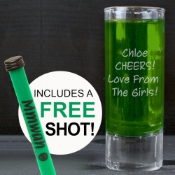 Personalised Shot Glass and Free Shot!