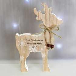 First Christmas as... Personalised Reindeer Decoration