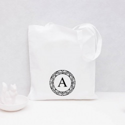 Initial Monogram Tote Bag