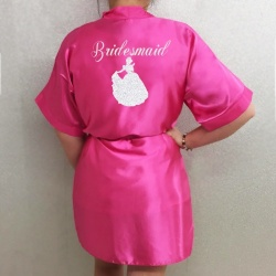 Personalised Princess Short Adult / Child Kimono Robe Gown