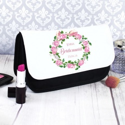 Personalised Floral Cosmetic bag