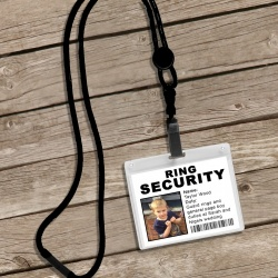 Ring Secuirty Personalised Lanyard