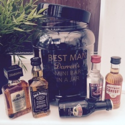 Mini Bar In A Jar Printed With Any Role & Name