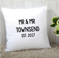 Mr & Mr Personalised Cushion