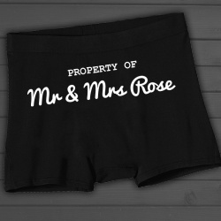 'Property of *Name*  Boxer Shorts Ideal Little Boys Wedding Gift