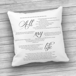 Song Lyric Customised Cushion