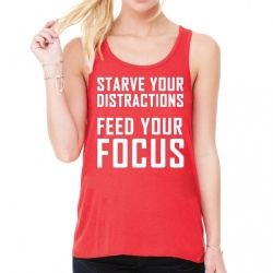 'Starve Distractions' Slouch Gym Vest