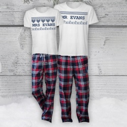 Nordic Red Personalised Pyjama Set