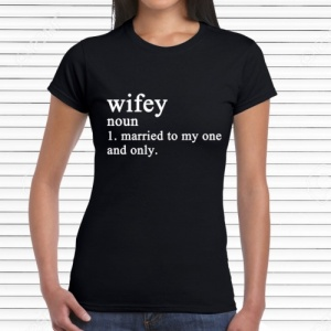 Personalised Novelty Wifey Dictionary T-Shirt
