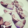 Personalised Heart Photo Coasters