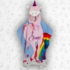 Personalised Unicorn Hooded Towel