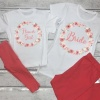 Personalised Floral Bridal Lounge Set - Age 1-2 to UK 28/30