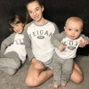 Personalised Grey Raglan Name Family PJ's