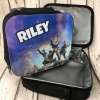 Black Fortnite Personalised Lunch Bag