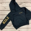 Personalised Black / Gold  Hoodie with Name & Est Date