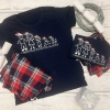 Personalised Stick Man Family Tartan Pyjama Set
