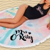 Personalised Multi Colour Large Circle Towel