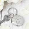 Personalised Decorative Wedding Round Photo Keyring Choose your Role