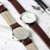 Unisex Tan / Silver Watch with Presentation Box