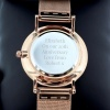 Ladies Engraved Rose Gold Tone Watch with Presentation Box