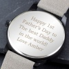 Mens Grey Engraved Watch with Presentation Box