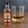 Personalised Whiskey Glass & Southern Comfort Miniature Set