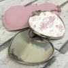 Personalised Floral Heart Cosmetic Mirror & Case