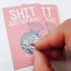 ''Sh*t Just Got Real'' Mini Bridesmaid / Maid of Honour Scratch Card