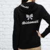 Bridal Party Glitter Bow Hoodie