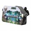 Black Minecraft Personalised Messenger Bag
