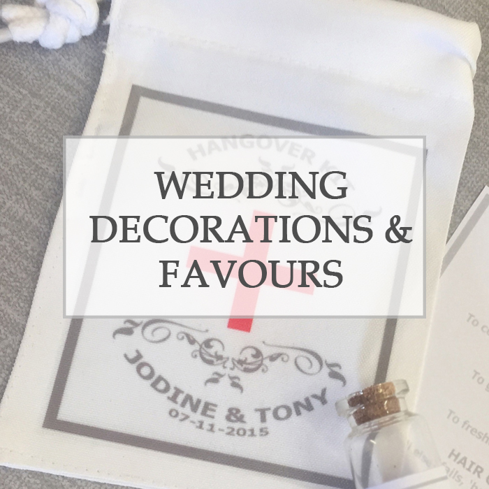 Wedding Decorations, Favours & Ideas